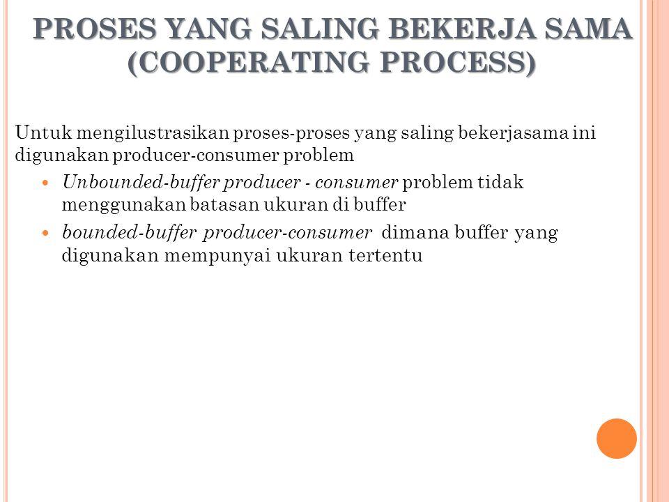 PROSES YANG SALING BEKERJA SAMA (COOPERATING PROCESS)