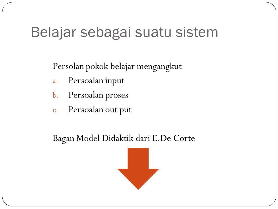 Belajar sebagai suatu sistem