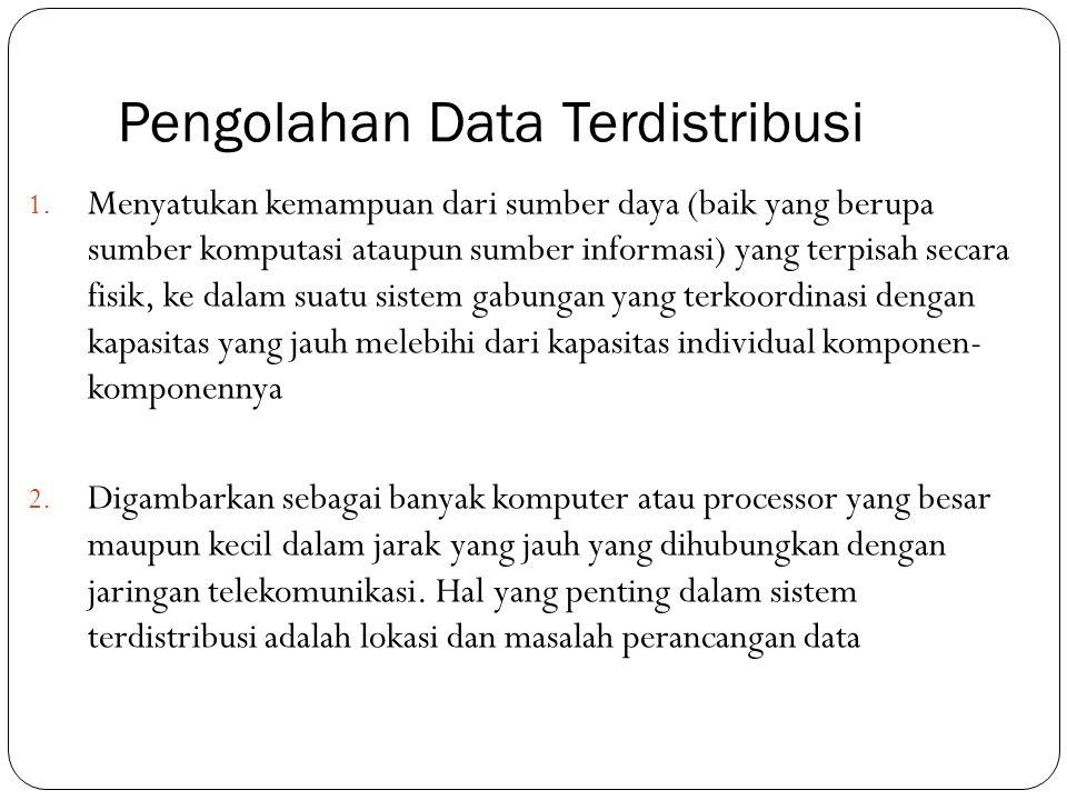 Pengolahan Data Terdistribusi