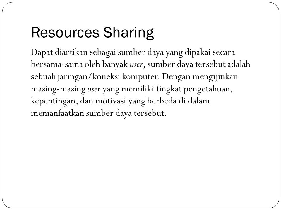 Resources Sharing