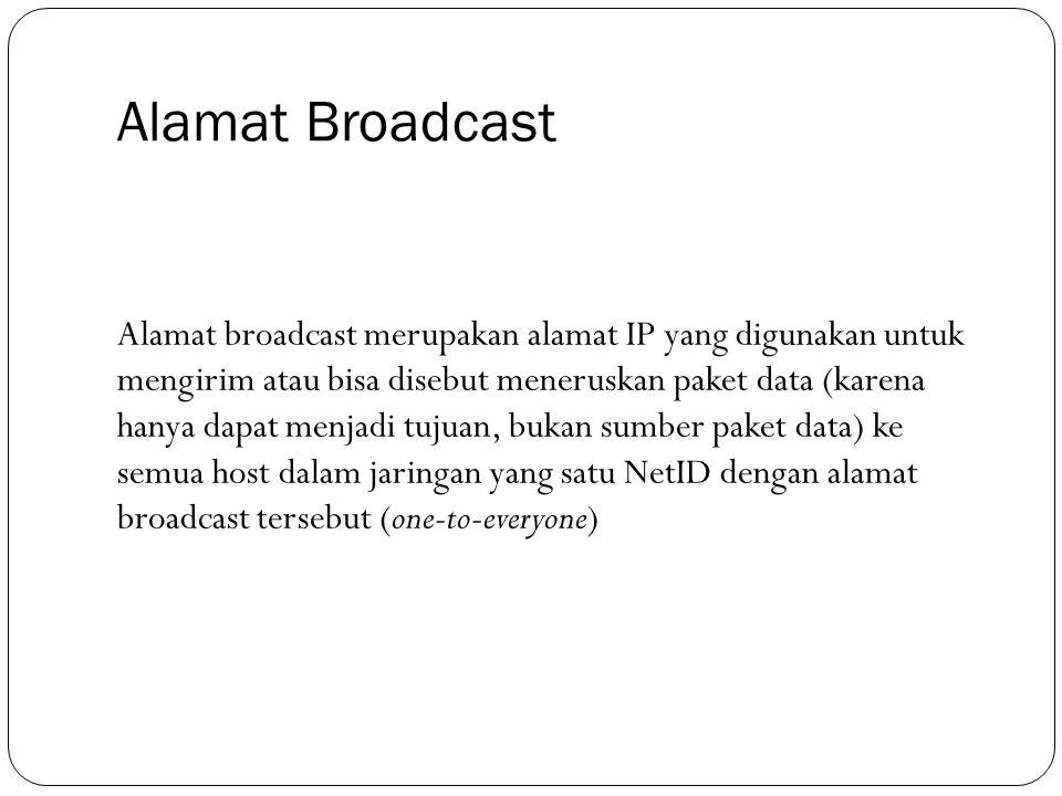 Alamat Broadcast