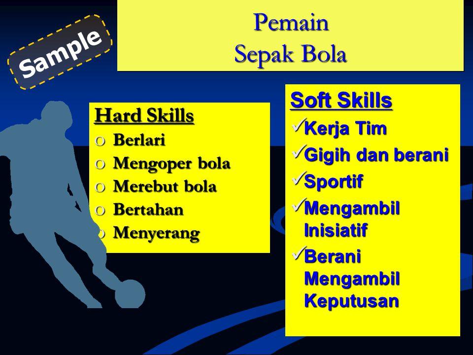 Pemain Sepak Bola Sample Soft Skills Hard Skills Kerja Tim