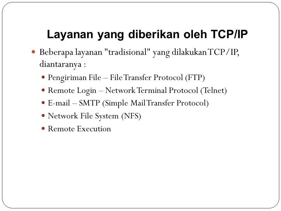 Layanan yang diberikan oleh TCP/IP