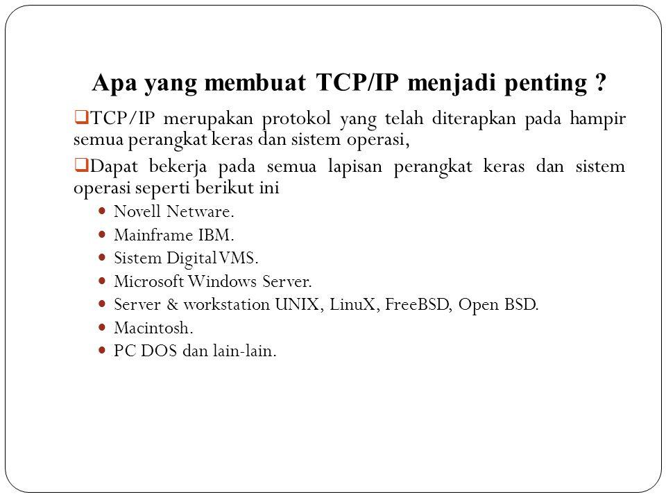 Apa yang membuat TCP/IP menjadi penting