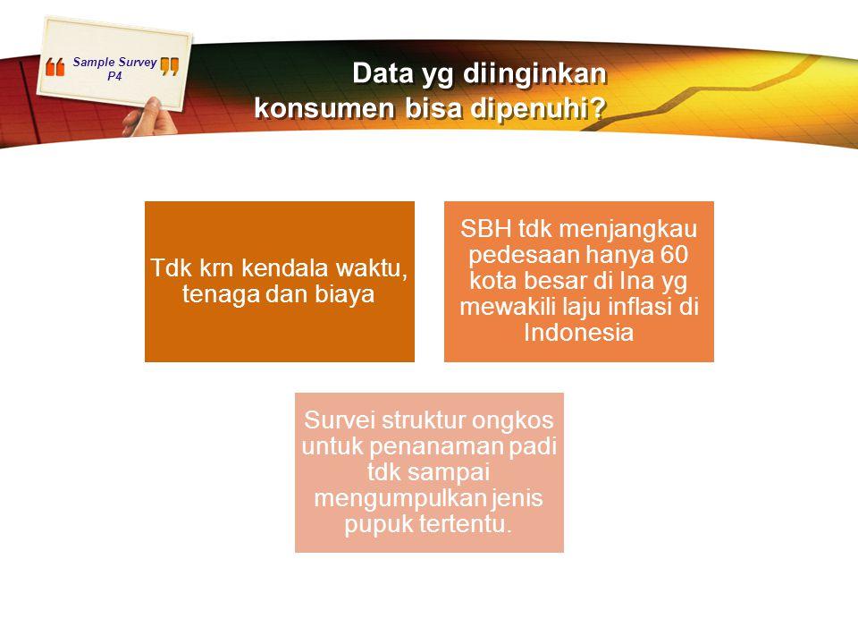 Data yg diinginkan konsumen bisa dipenuhi