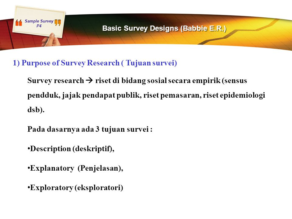 Basic Survey Designs (Babbie E.R.)