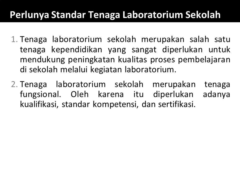 Perlunya Standar Tenaga Laboratorium Sekolah