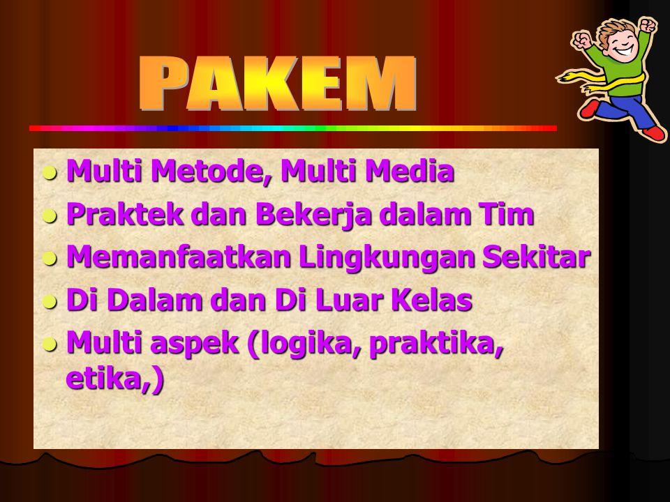 PAKEM Multi Metode, Multi Media Praktek dan Bekerja dalam Tim