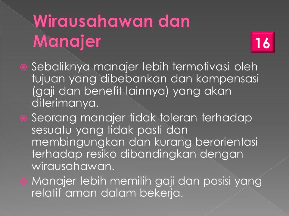 Wirausahawan dan Manajer