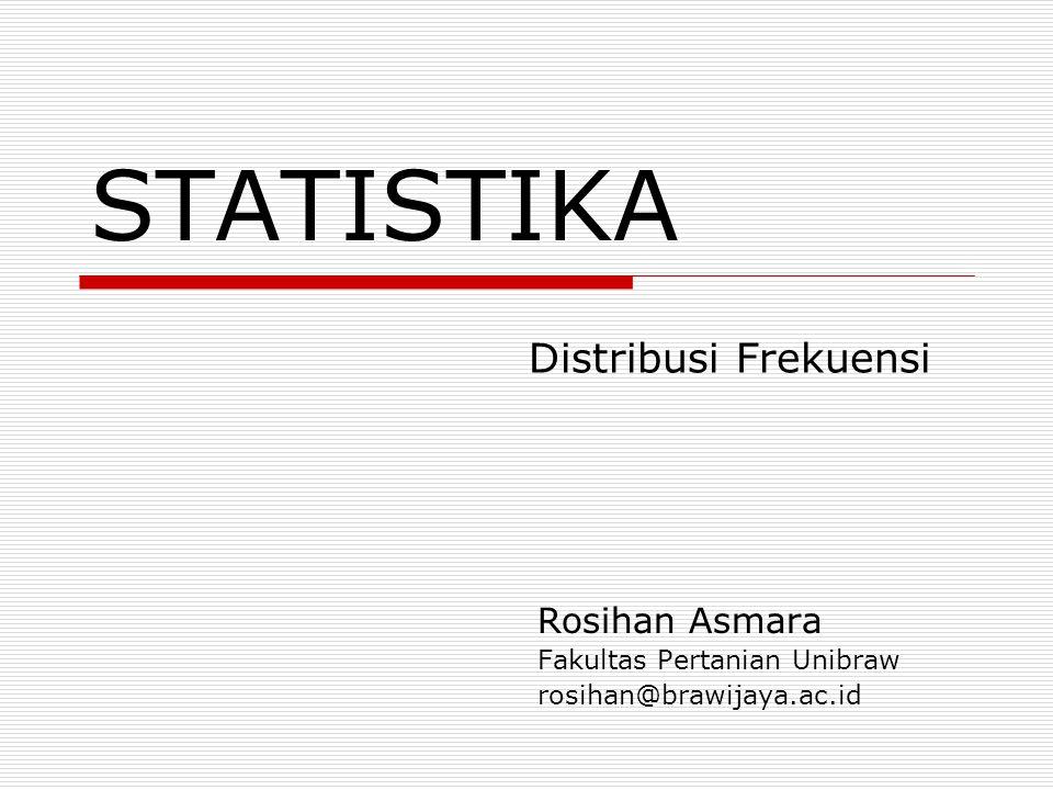 Rosihan Asmara Fakultas Pertanian Unibraw rosihan@brawijaya.ac.id