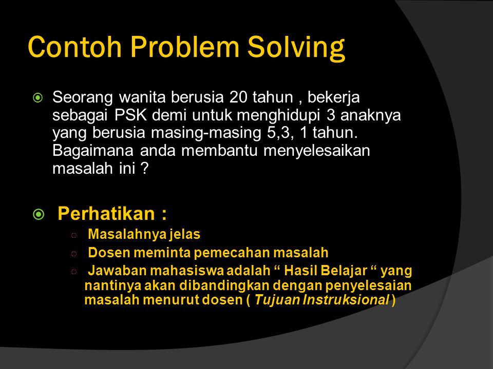 Contoh Problem Solving