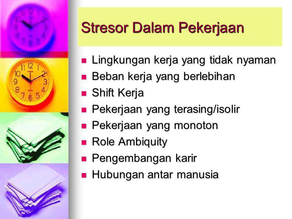 Stresor Dalam Pekerjaan
