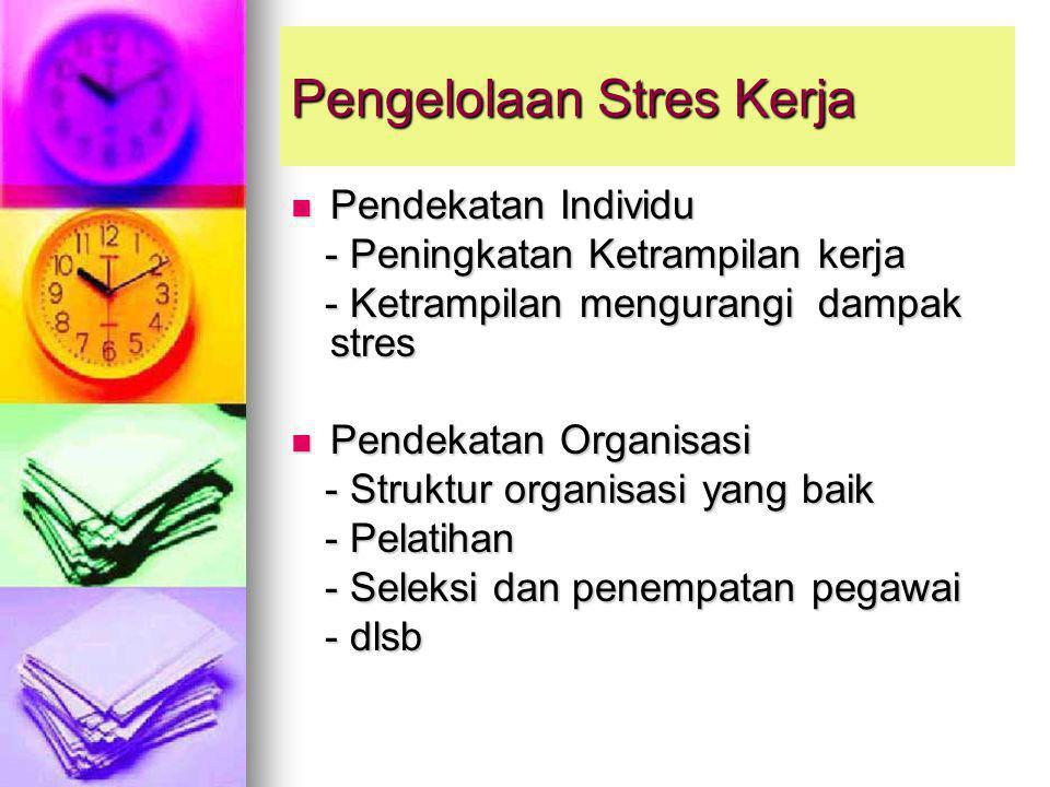 Pengelolaan Stres Kerja