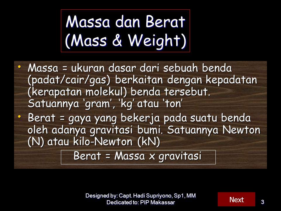 Massa dan Berat (Mass & Weight)