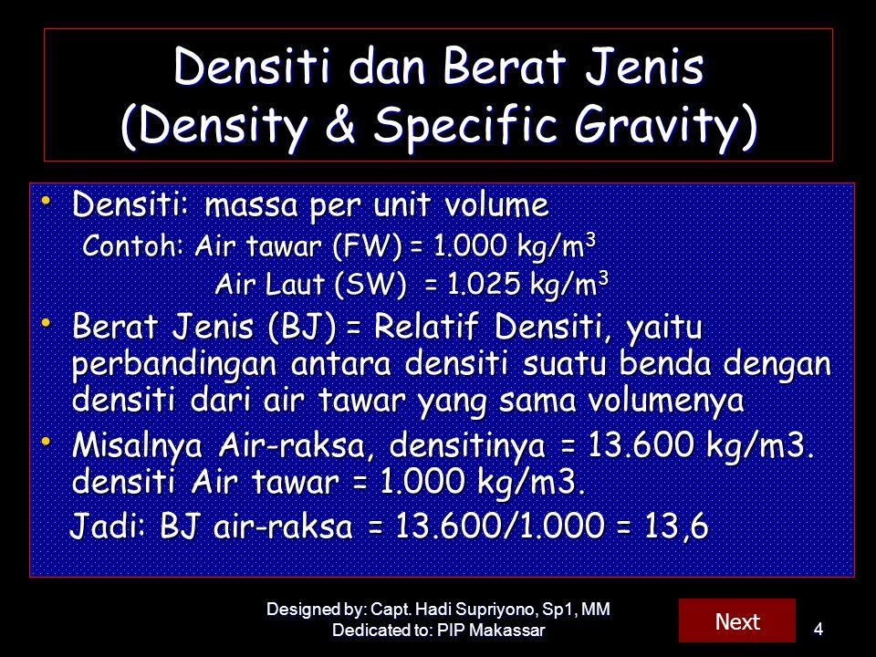 Densiti dan Berat Jenis (Density & Specific Gravity)