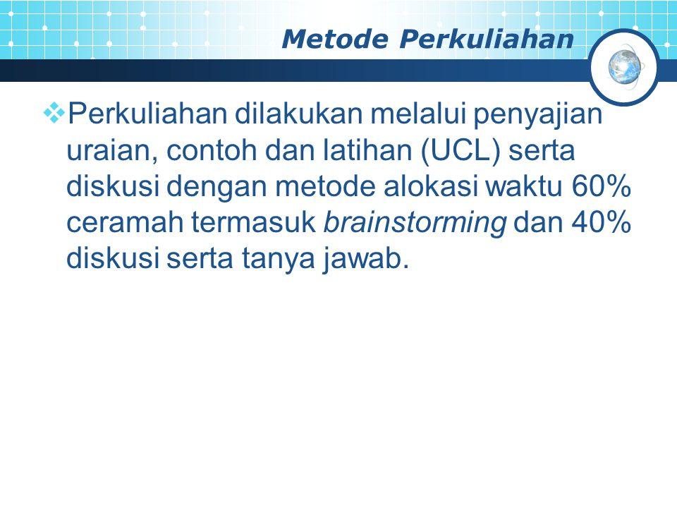 Metode Perkuliahan