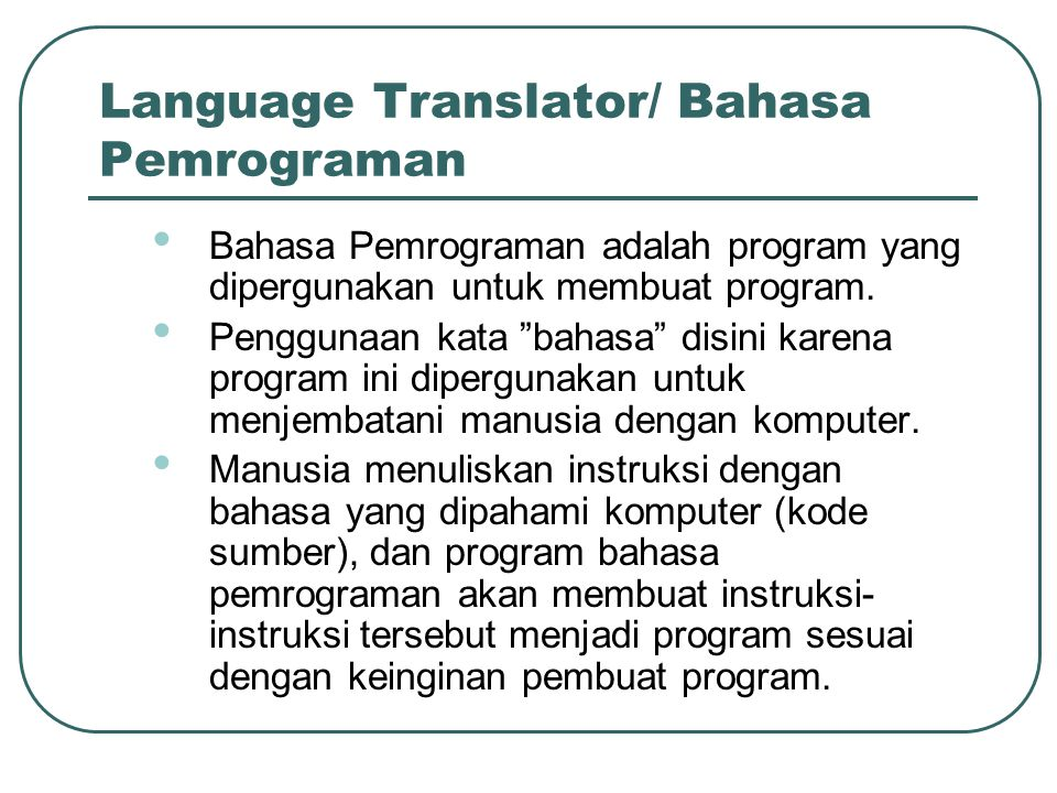 Language Translator/ Bahasa Pemrograman