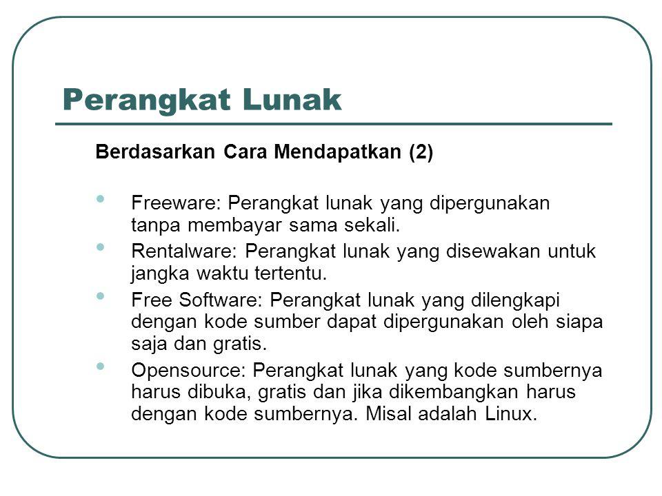 Perangkat Lunak Berdasarkan Cara Mendapatkan (2)