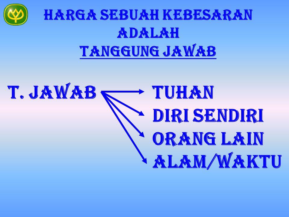 HARGA SEBUAH KEBESARAN ADALAH TANGGUNG JAWAB