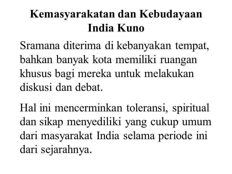 Kemasyarakatan dan Kebudayaan India Kuno