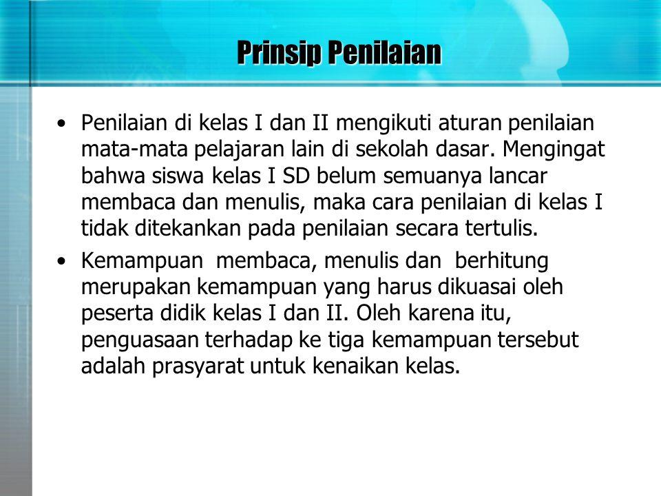 Prinsip Penilaian