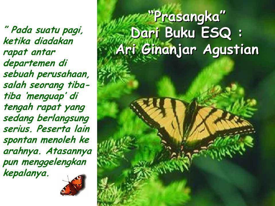 Prasangka Dari Buku ESQ : Ari Ginanjar Agustian