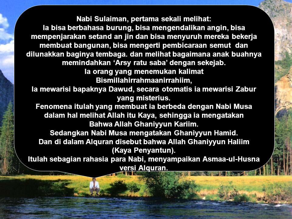 Nabi Sulaiman, pertama sekali melihat: