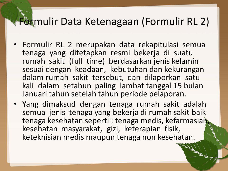 Formulir Data Ketenagaan (Formulir RL 2)