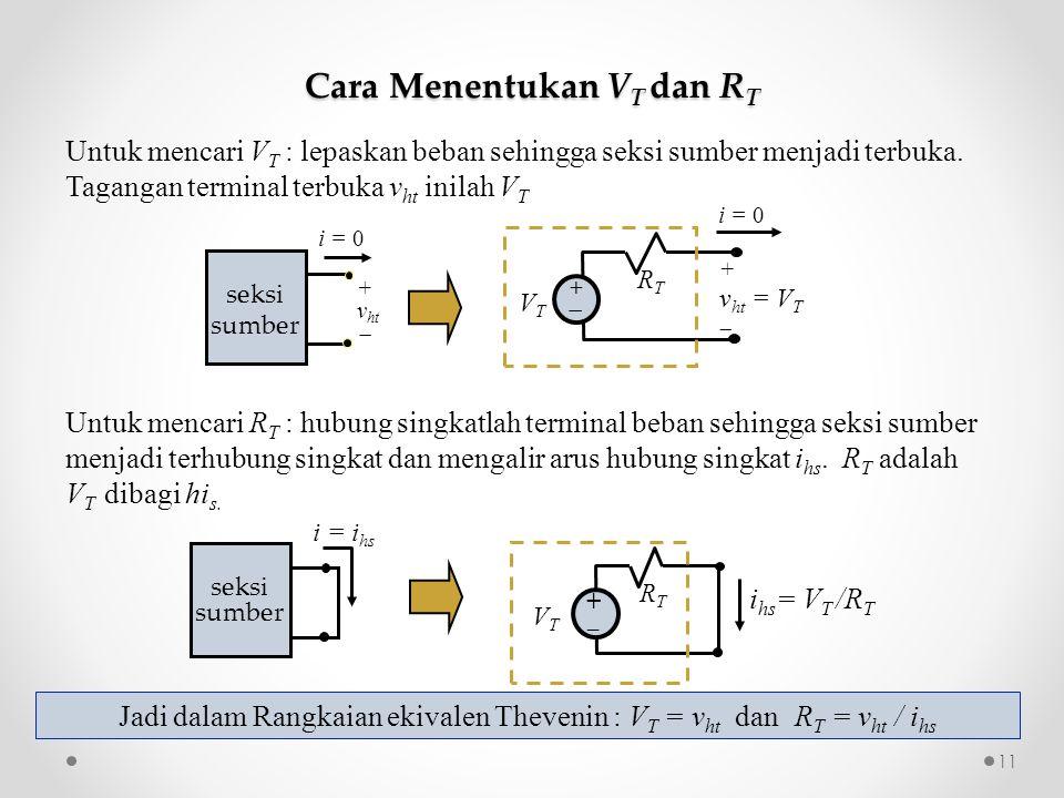 Cara Menentukan VT dan RT