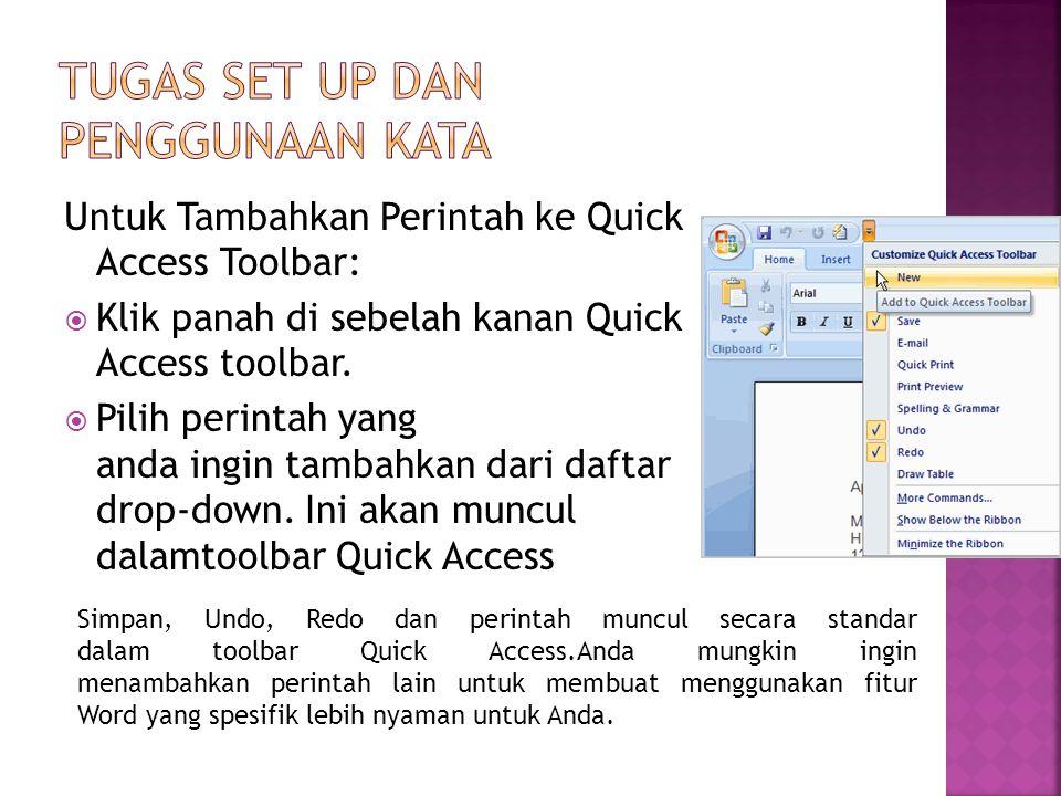 Tugas Set Up dan Penggunaan Kata