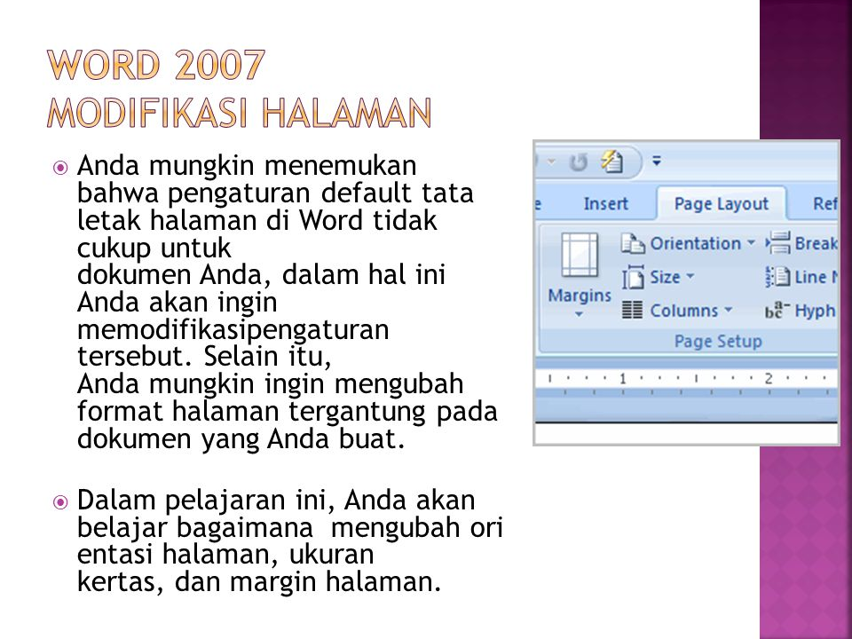 Word 2007 Modifikasi halaman