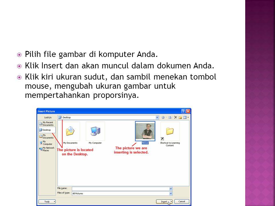 Pilih file gambar di komputer Anda.
