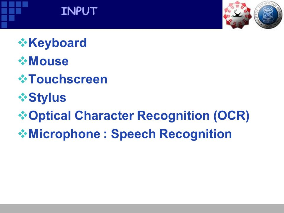 Optical Character Recognition (OCR) Microphone : Speech Recognition