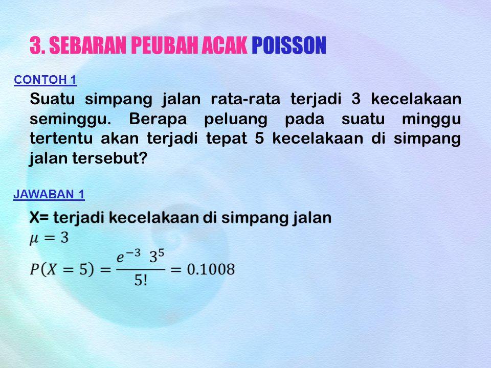 3. SEBARAN PEUBAH ACAK POISSON