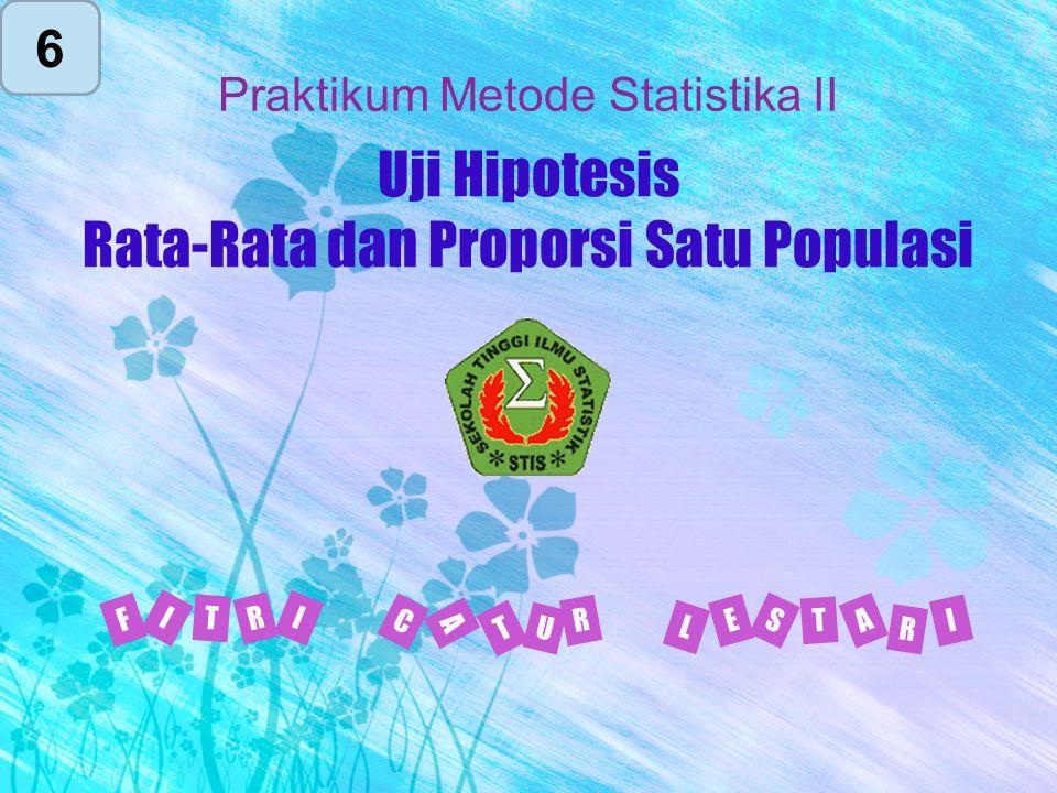 Uji Hipotesis Rata-Rata dan Proporsi Satu Populasi