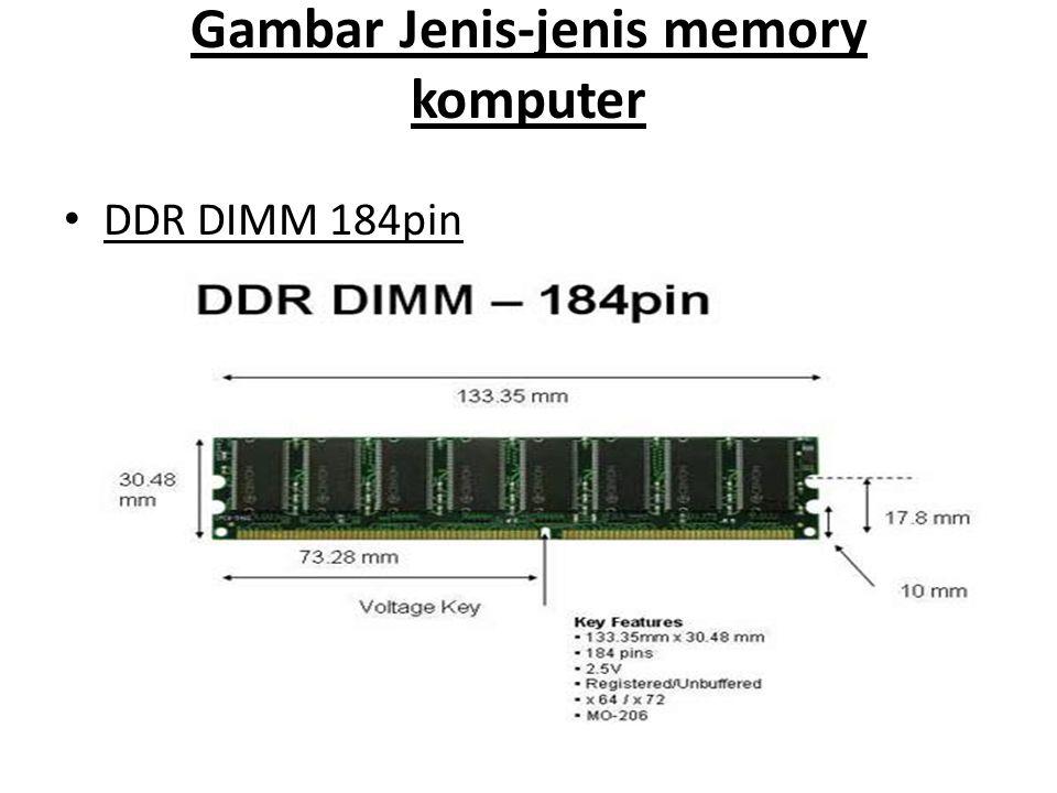 Gambar Jenis-jenis memory komputer