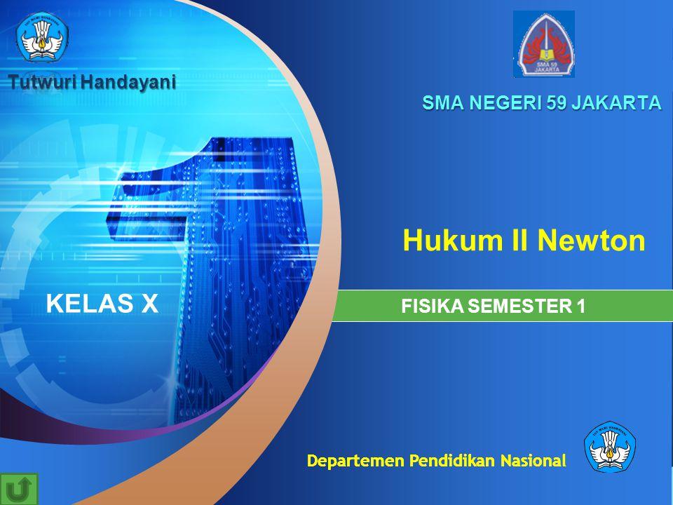 Hukum II Newton KELAS X Tutwuri Handayani SMA NEGERI 59 JAKARTA