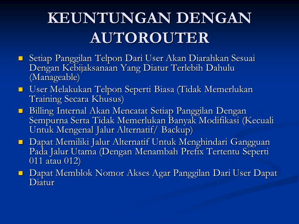 KEUNTUNGAN DENGAN AUTOROUTER