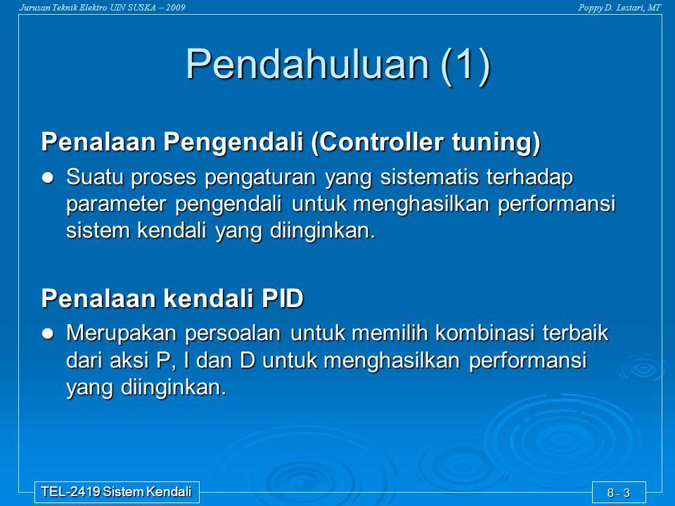 Pendahuluan (1) Penalaan Pengendali (Controller tuning)