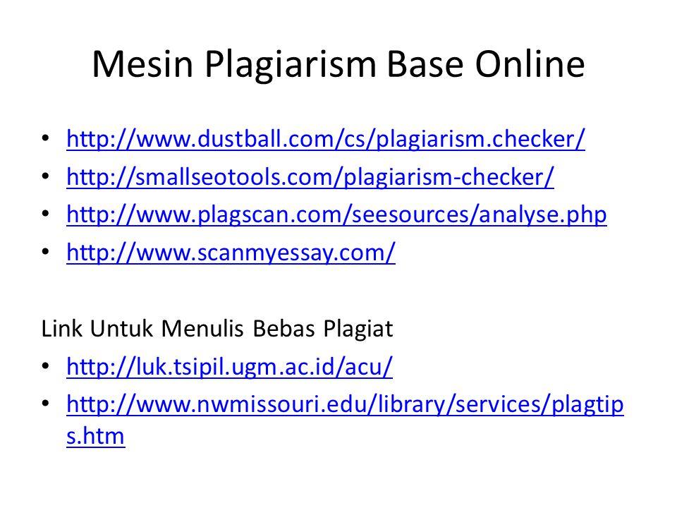 Mesin Plagiarism Base Online