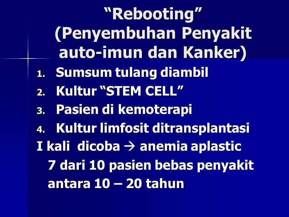 Rebooting (Penyembuhan Penyakit auto-imun dan Kanker)