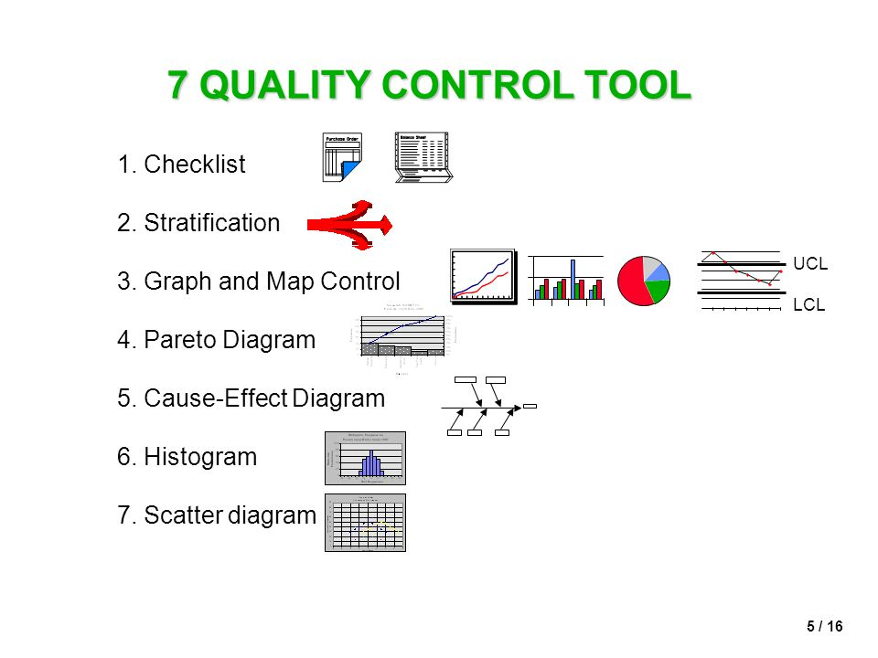 7 QUALITY CONTROL TOOL 1. Checklist 2. Stratification