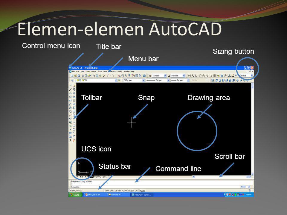 Elemen-elemen AutoCAD