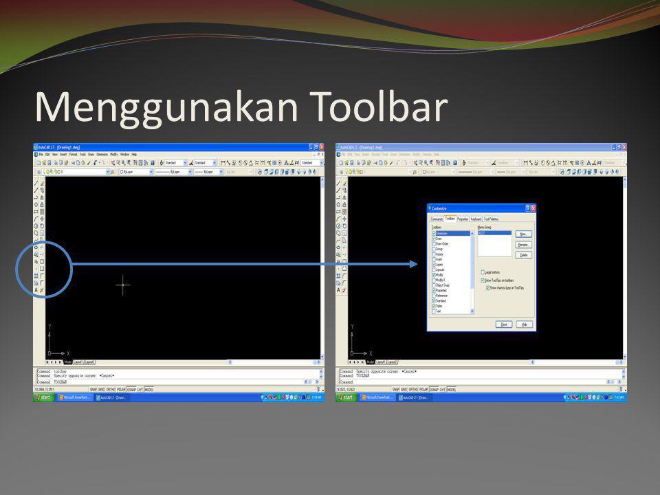 Menggunakan Toolbar