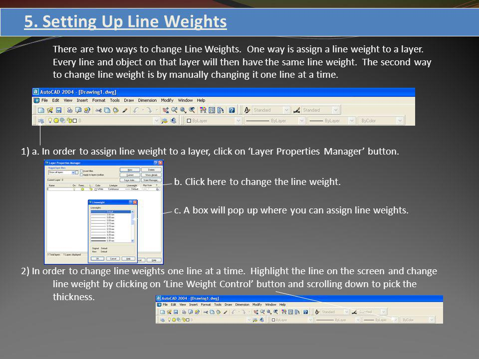 5. Setting Up Line Weights