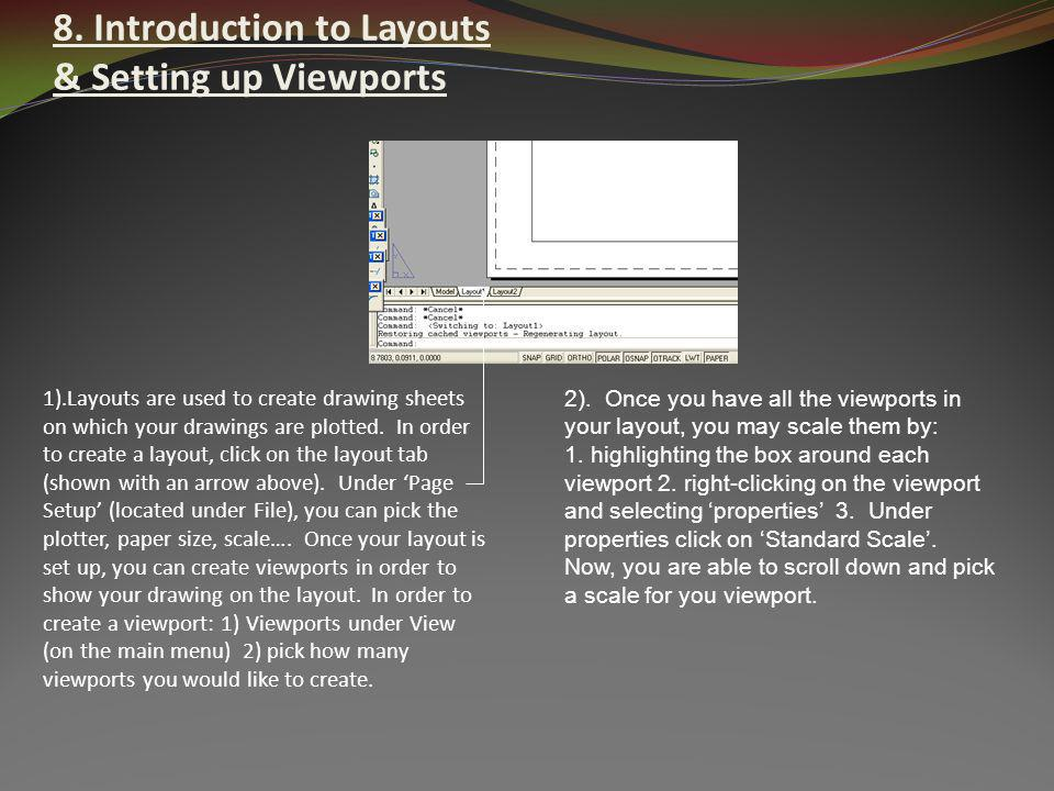 8. Introduction to Layouts & Setting up Viewports