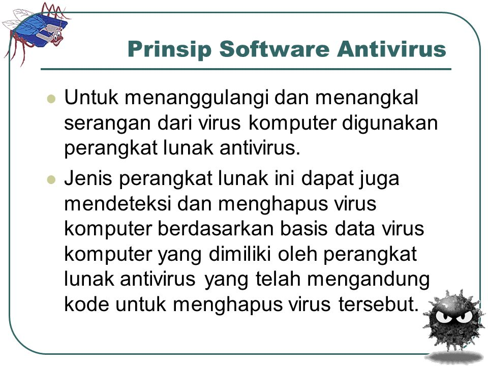 Prinsip Software Antivirus