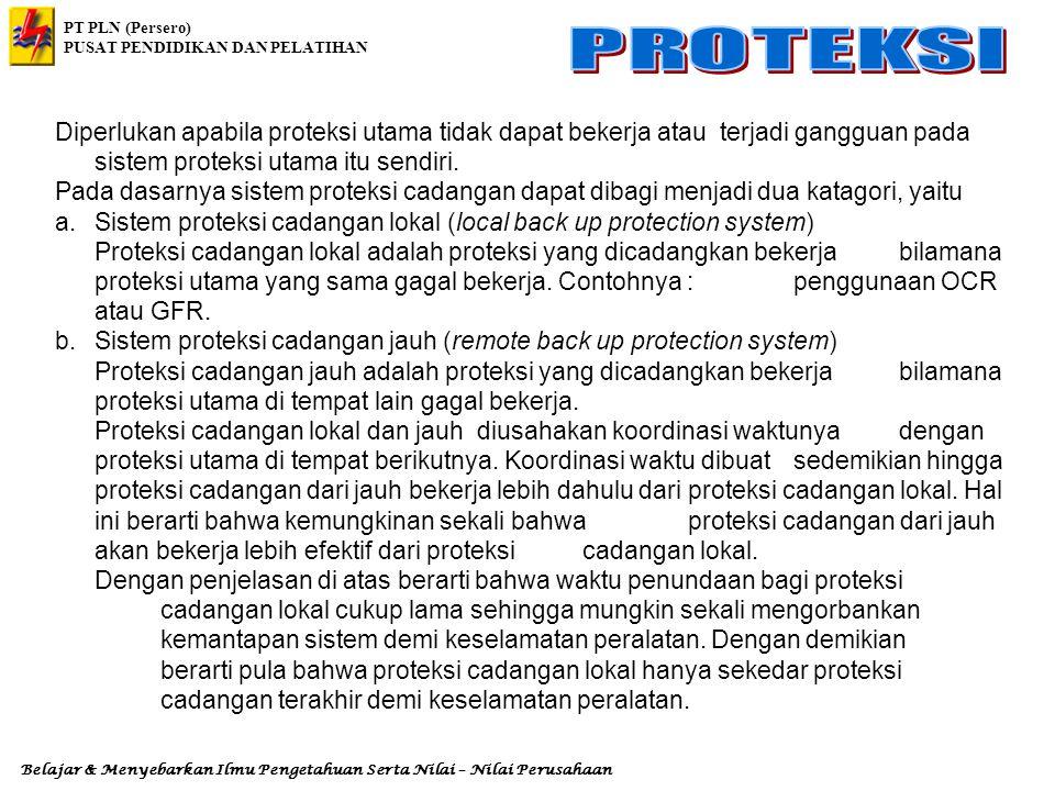 Diperlukan apabila proteksi utama tidak dapat bekerja atau terjadi gangguan pada sistem proteksi utama itu sendiri.