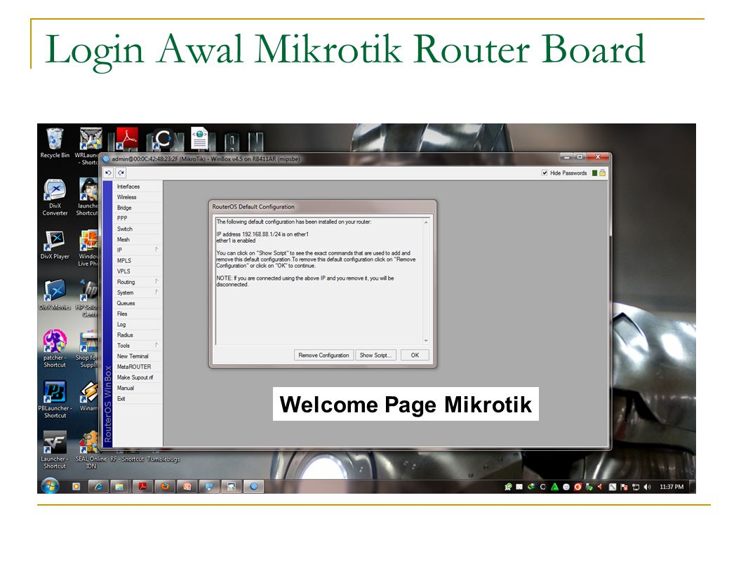 Login Awal Mikrotik Router Board