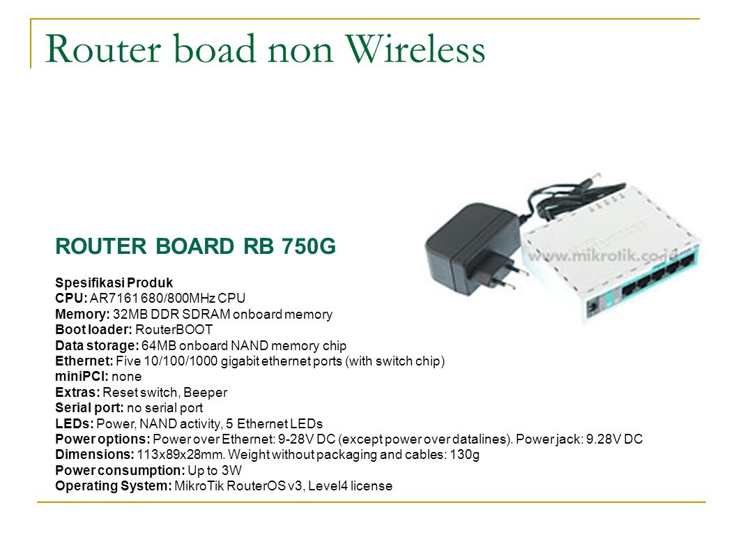Router boad non Wireless